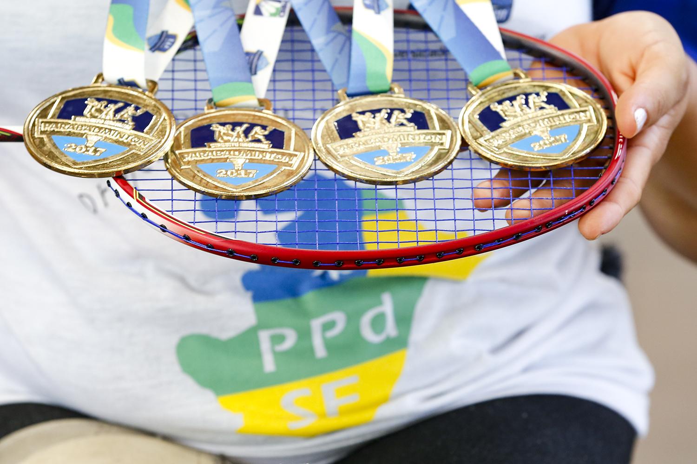 A atleta foi convocada em novembro do ano passado pela Seleção Brasileira de Parabadminton e participou de duas competições na Colômbia. (fotos: Adilson Andrade/Ascom UFS)